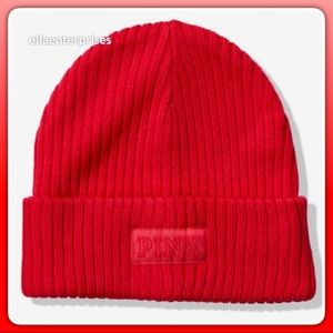 VS Pink Red Pepper Beanie Hat